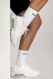 Meshki Branded Socks - White - MESHKI ?id=16083483197515