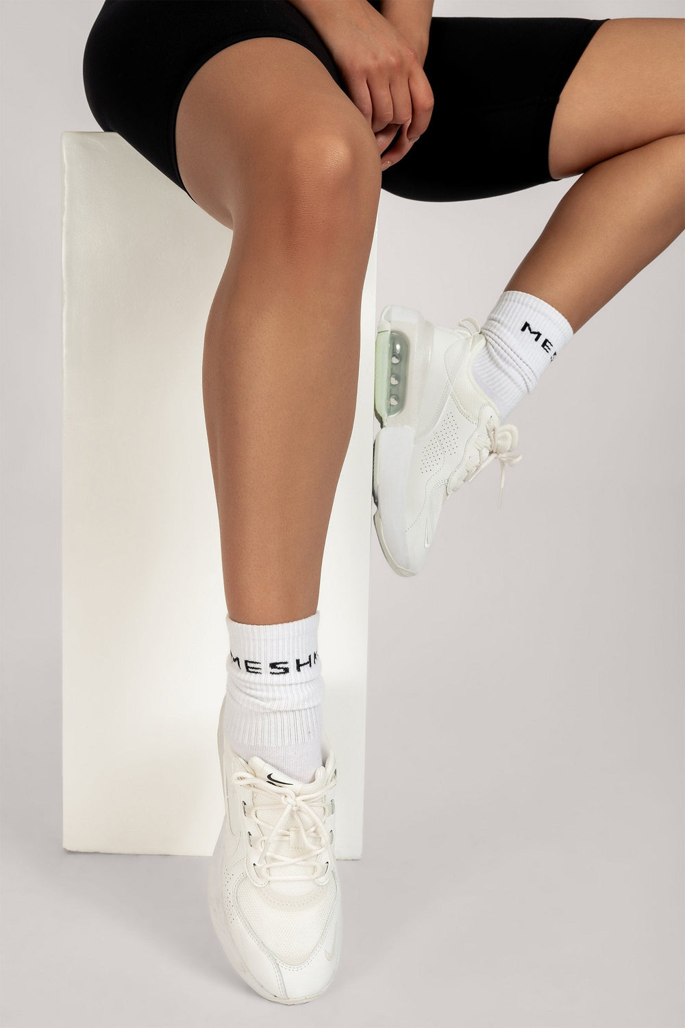 Meshki Branded Socks - White - MESHKI ?id=16083483230283