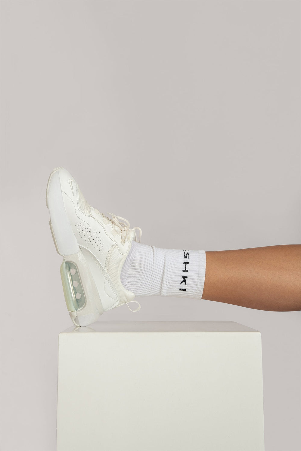 Meshki Branded Socks - White - MESHKI ?id=16083483361355