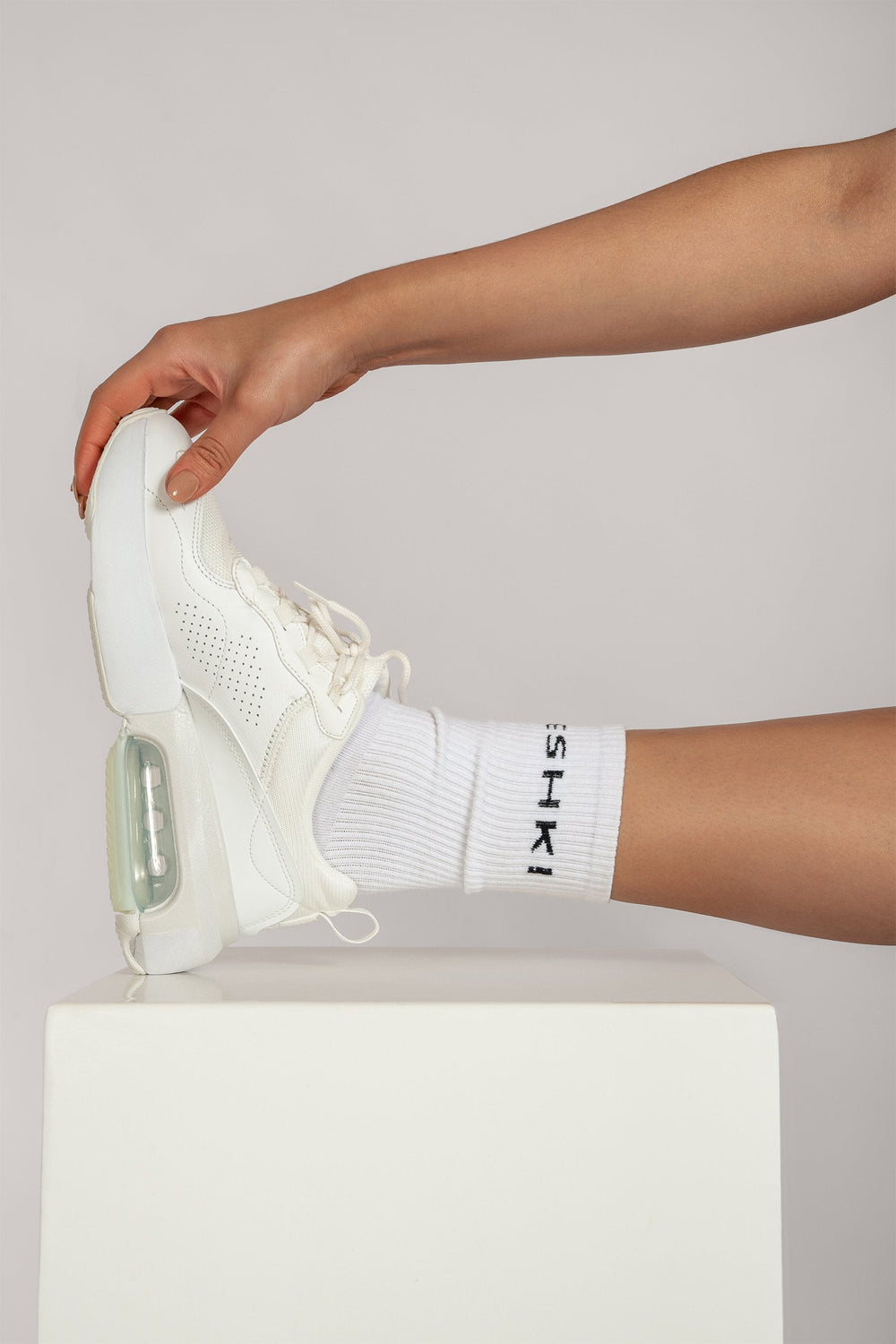 Meshki Branded Socks - White - MESHKI ?id=16083483164747