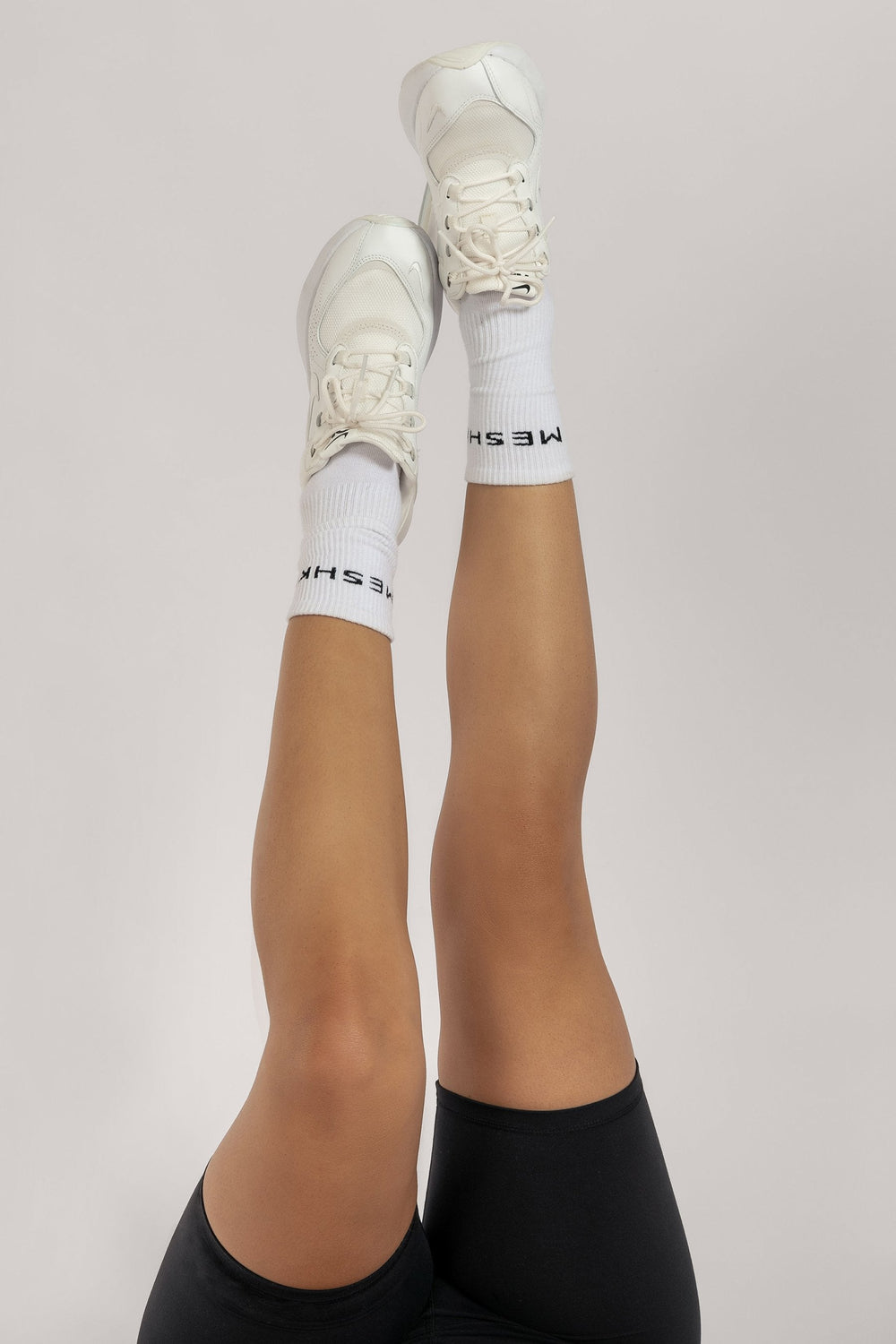 Meshki Branded Socks - White - MESHKI ?id=16083483066443
