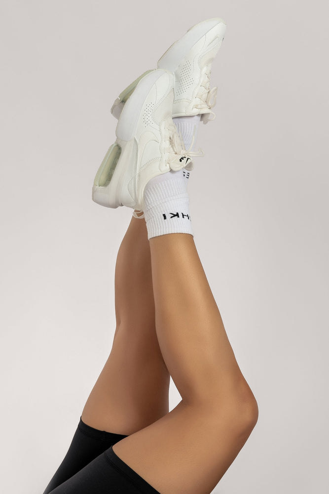 Meshki Branded Socks - White - MESHKI
