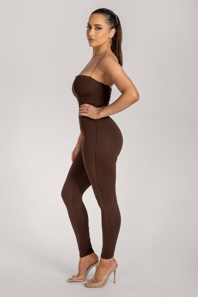 Tilly High Waisted Legging - Chocolate - MESHKI
