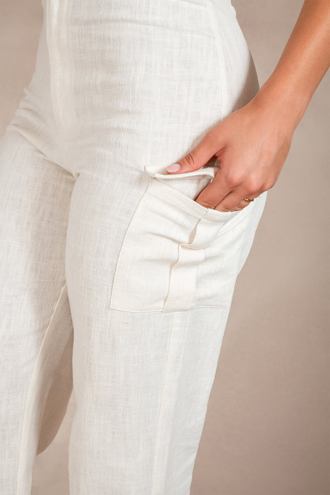Ziporra Linen Pants - Natural
