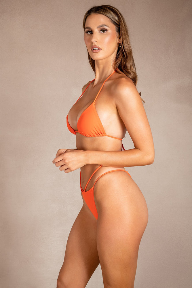 Paris Triangle Bikini Top - Orange