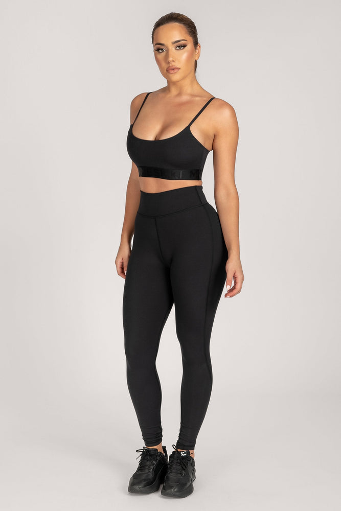 Selene Ruched Full Length Legging - Black