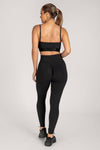 Selene Ruched Full Length Legging - Charcoal