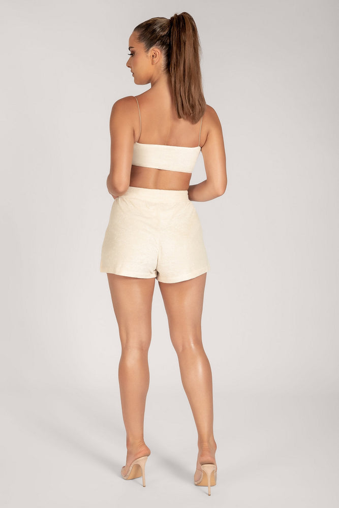 Marina Terry Towelling Shorts - Cream