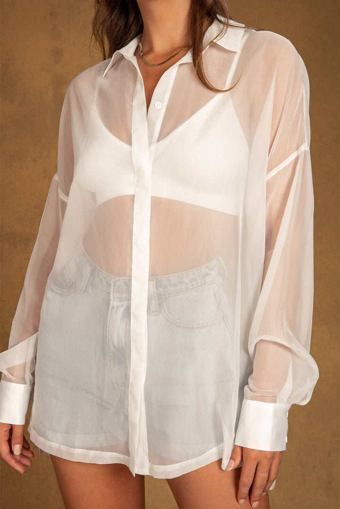 Shirley Sheer Shirt - White