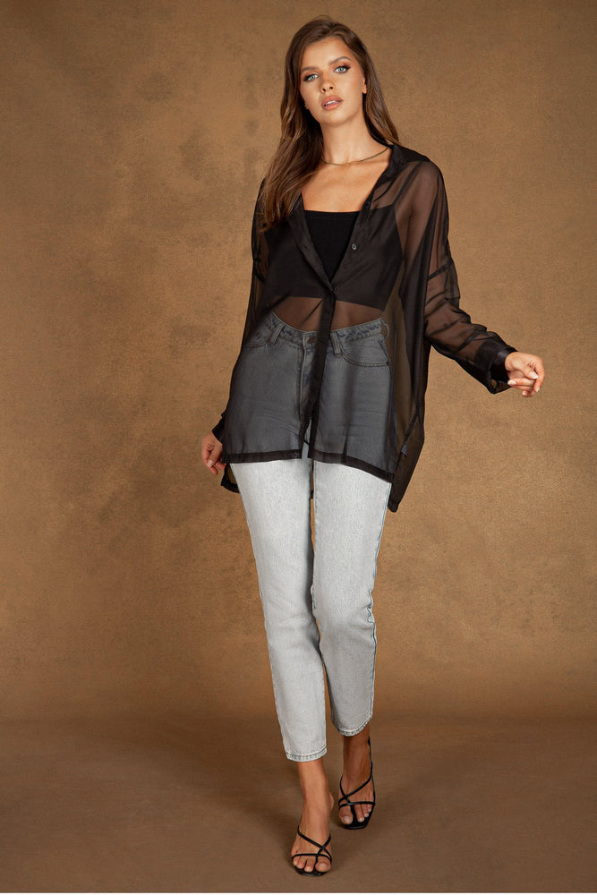 Shirley Sheer Shirt - Black