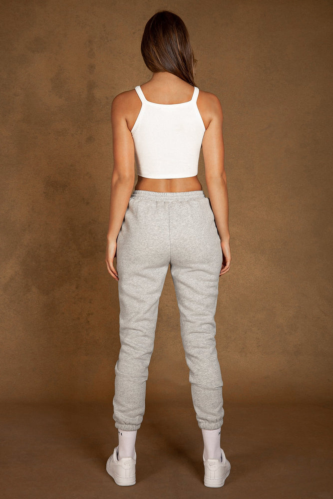 Phoebe Fleece Slim Jogger - Grey Marle