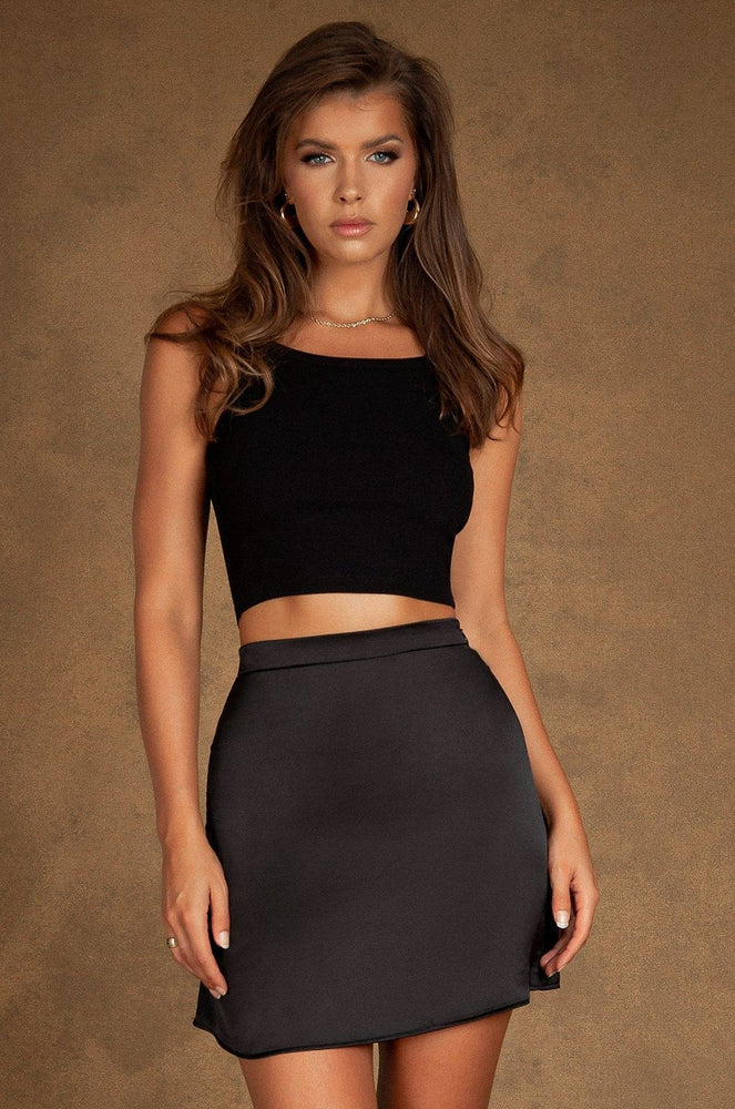 Clio Flippy Mini Skirt - Black