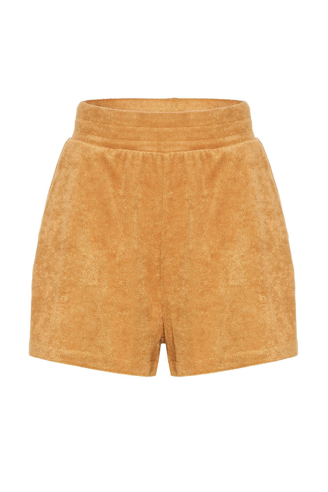 Marina Terry Towelling Shorts - Biscuit