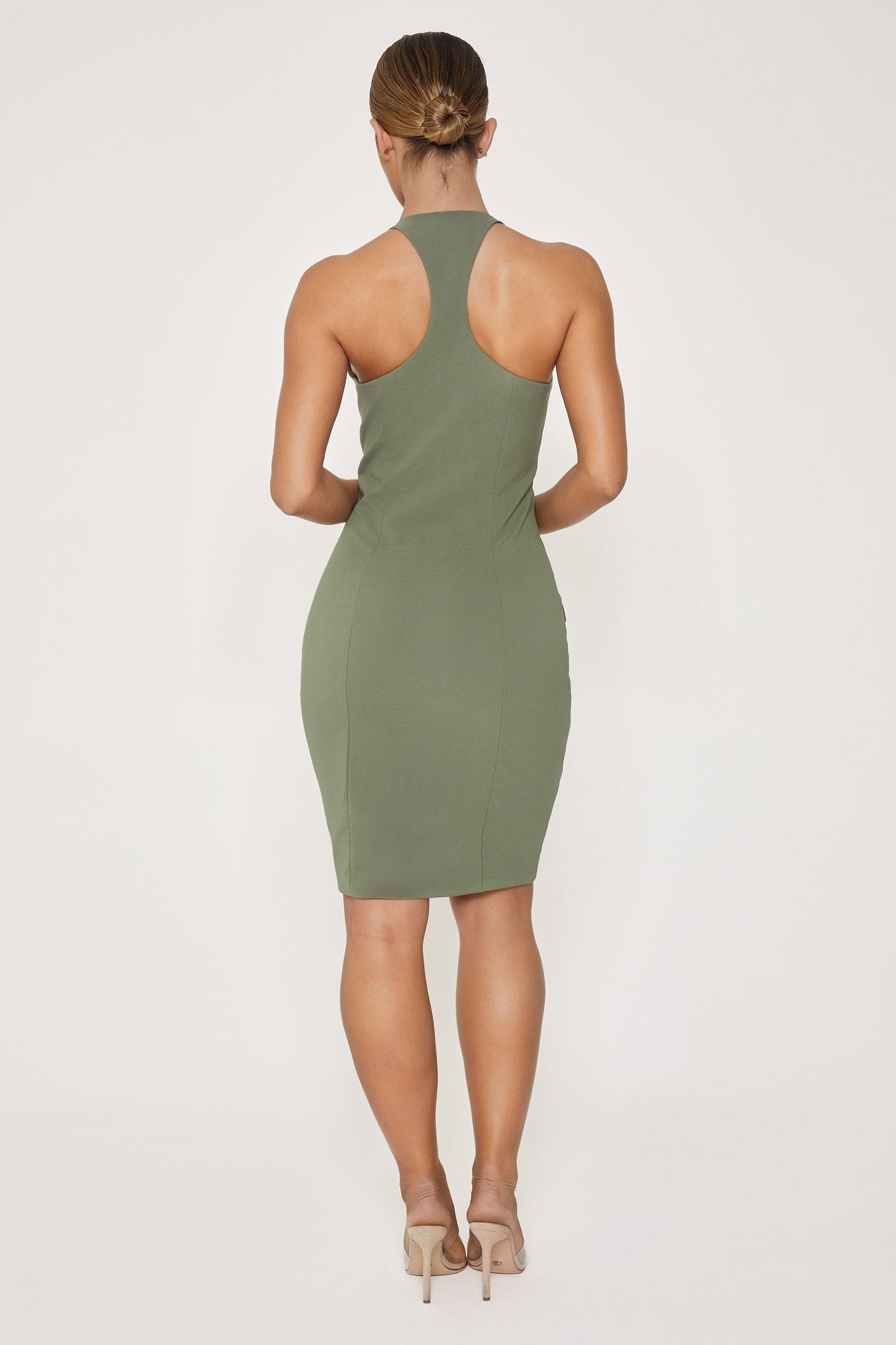 Delta Cargo Mini Dress - Khaki - MESHKI