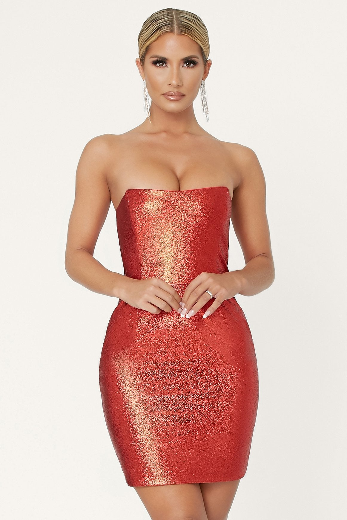 Sierra Mini Dress - Red - MESHKI
