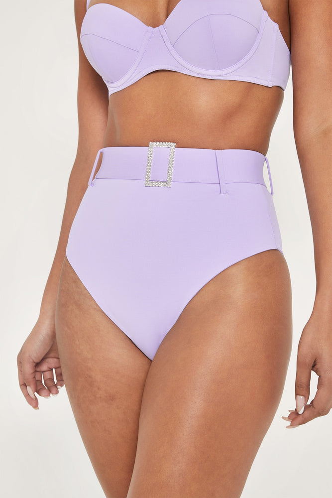 Hadley Diamante High Waisted Bottoms - Lilac - MESHKI