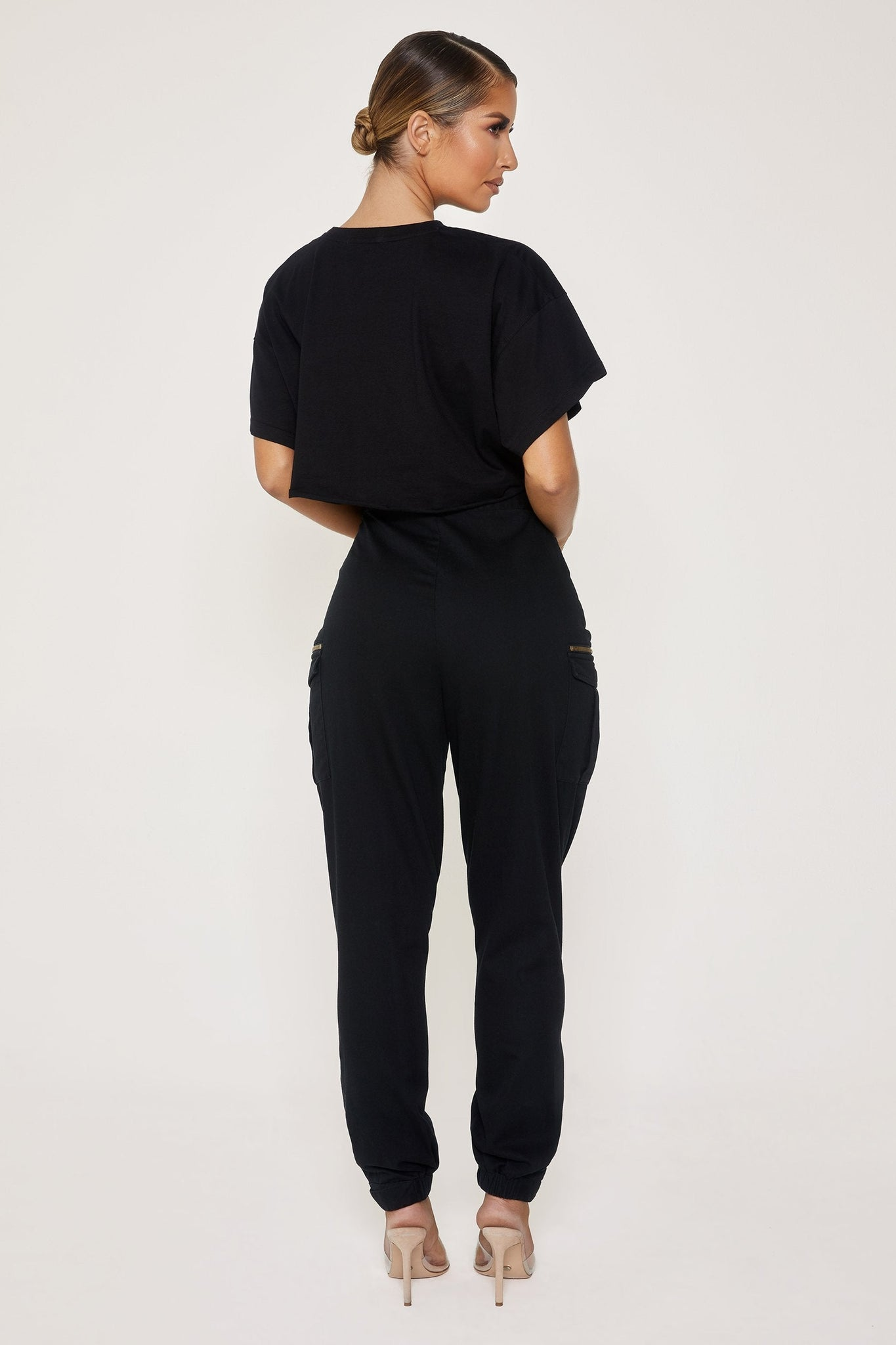 Zippora Cargo Pants - Black - MESHKI