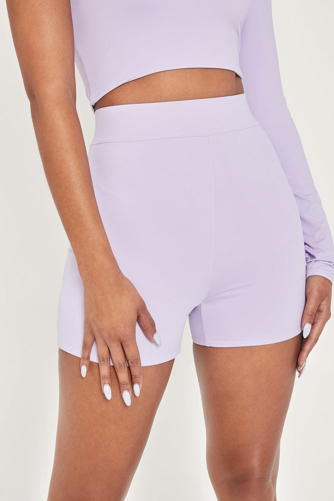 Tiffani Mini Bike Shorts - Lilac - MESHKI ?id=13260435685451