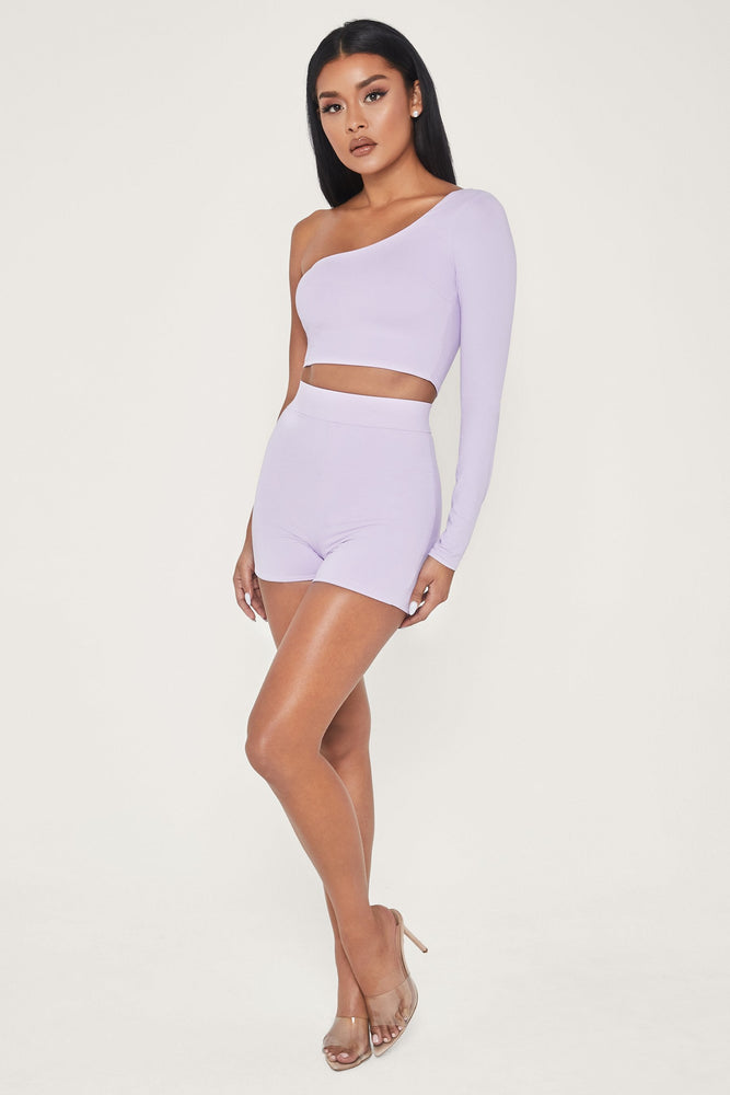 Tiffani Mini Bike Shorts - Lilac - MESHKI ?id=13260435750987