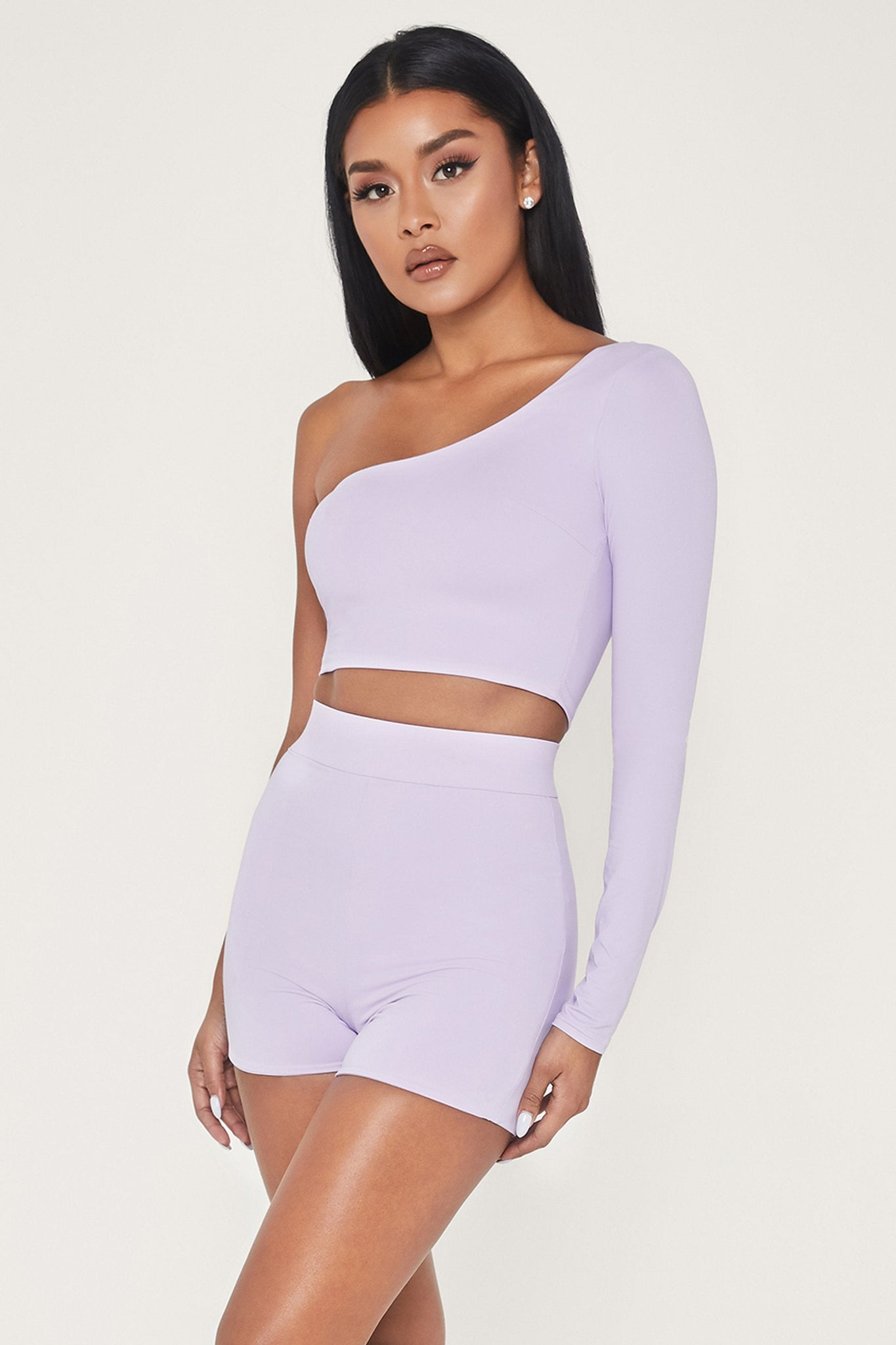 Tiffani Mini Bike Shorts - Lilac - MESHKI