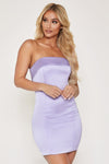 Macie Strapless Mini Dress - Lilac