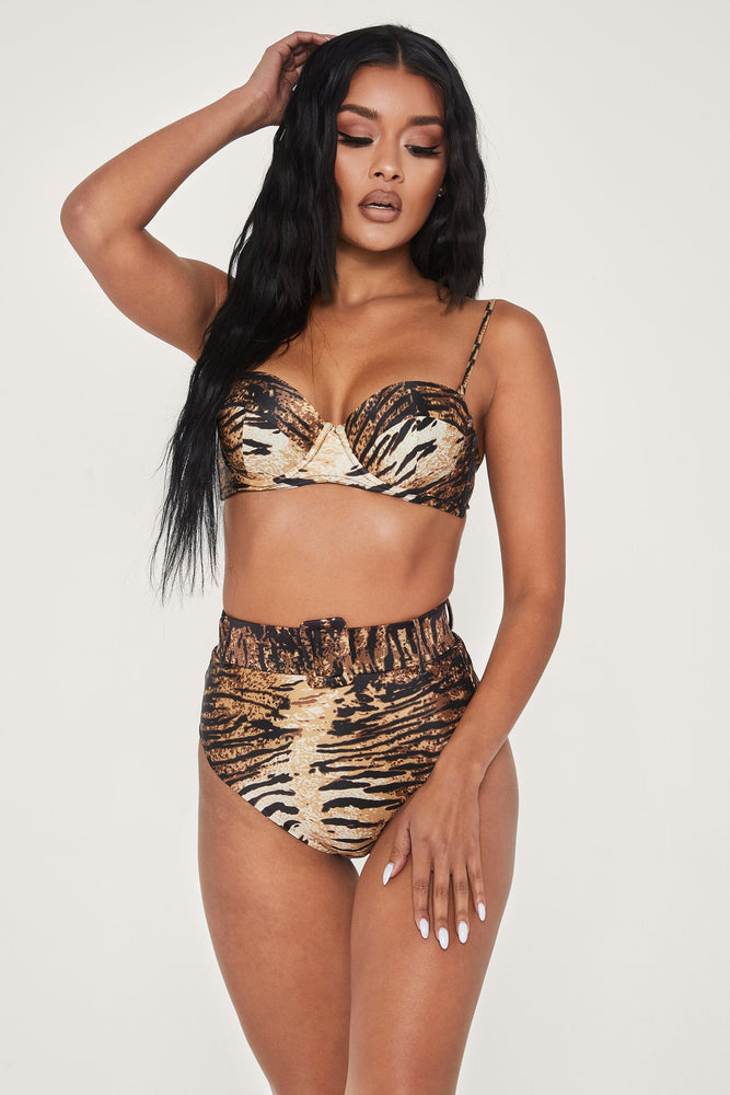 Hadley High Waisted Bottoms - Tiger - MESHKI