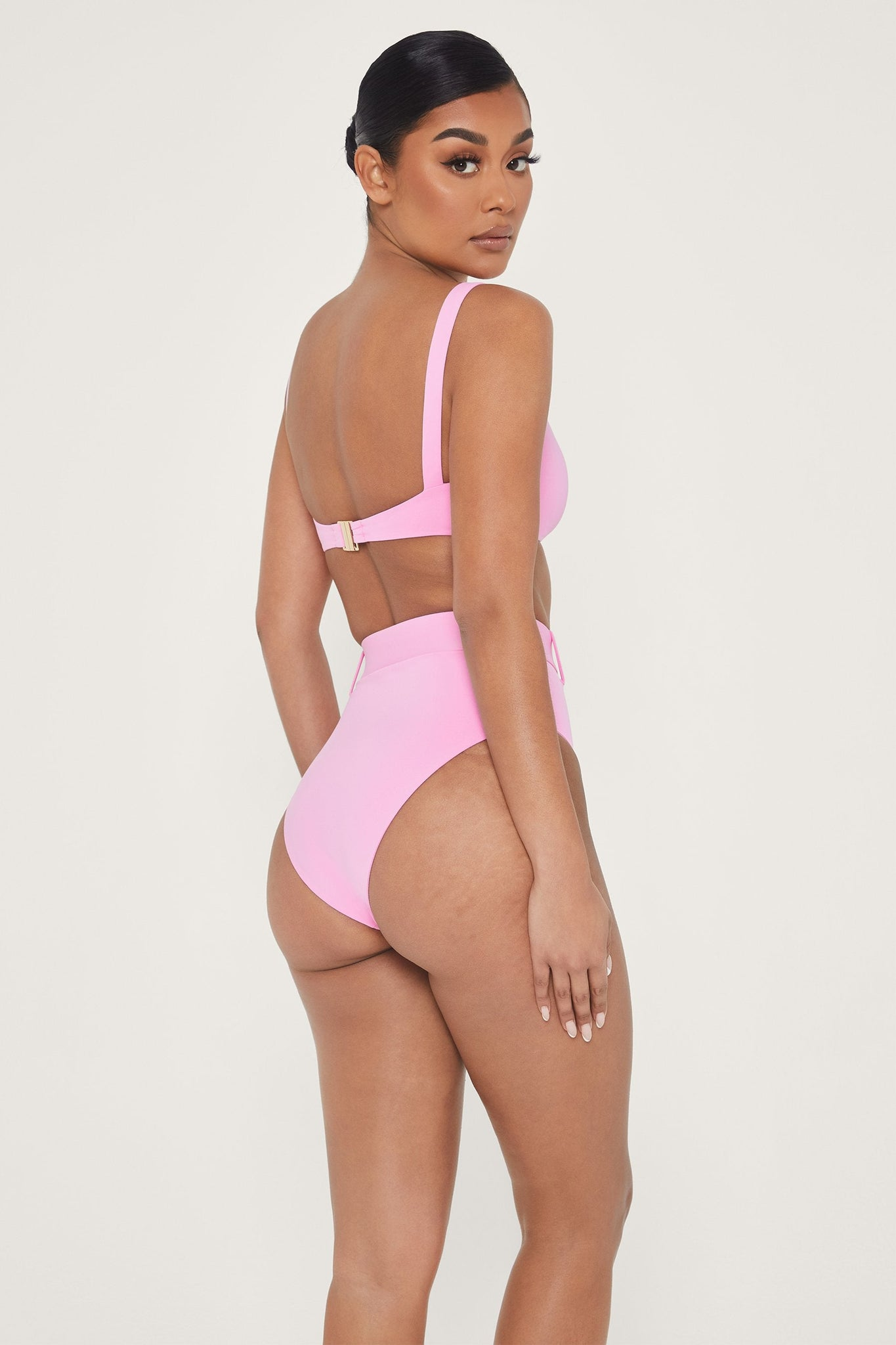 Hadley Diamante High Waisted Bottoms - Pink - MESHKI