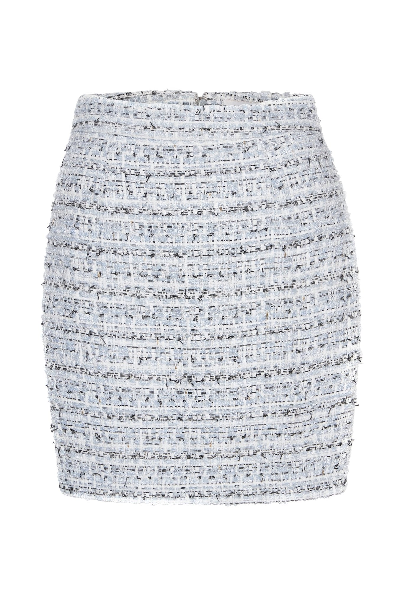 Kathryn Tweed Mini Skirt - Baby Blue - MESHKI