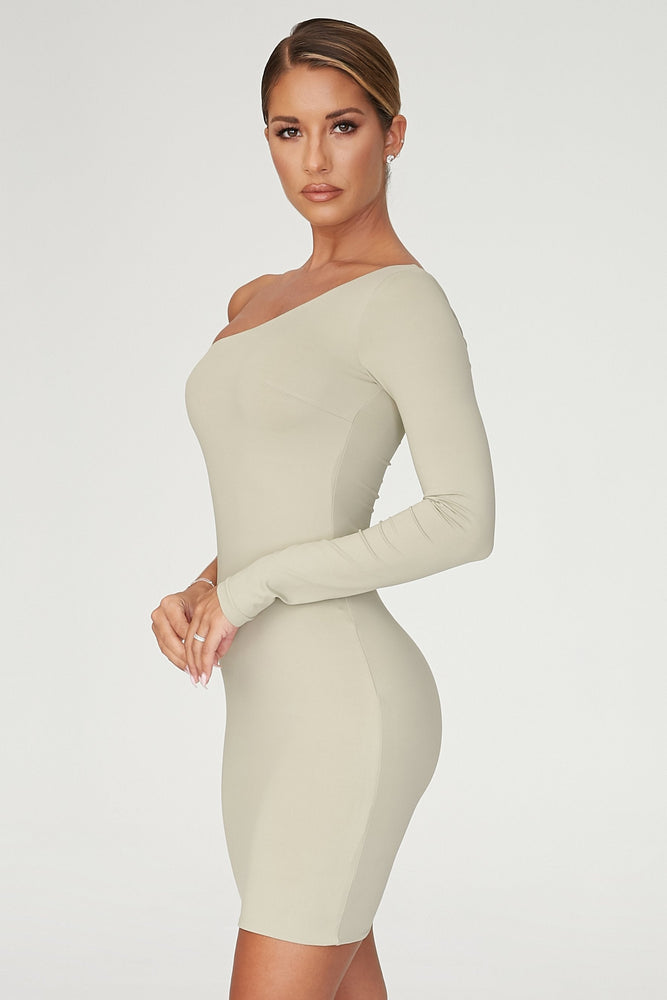 Mya One Shoulder Dress - Olive - MESHKI