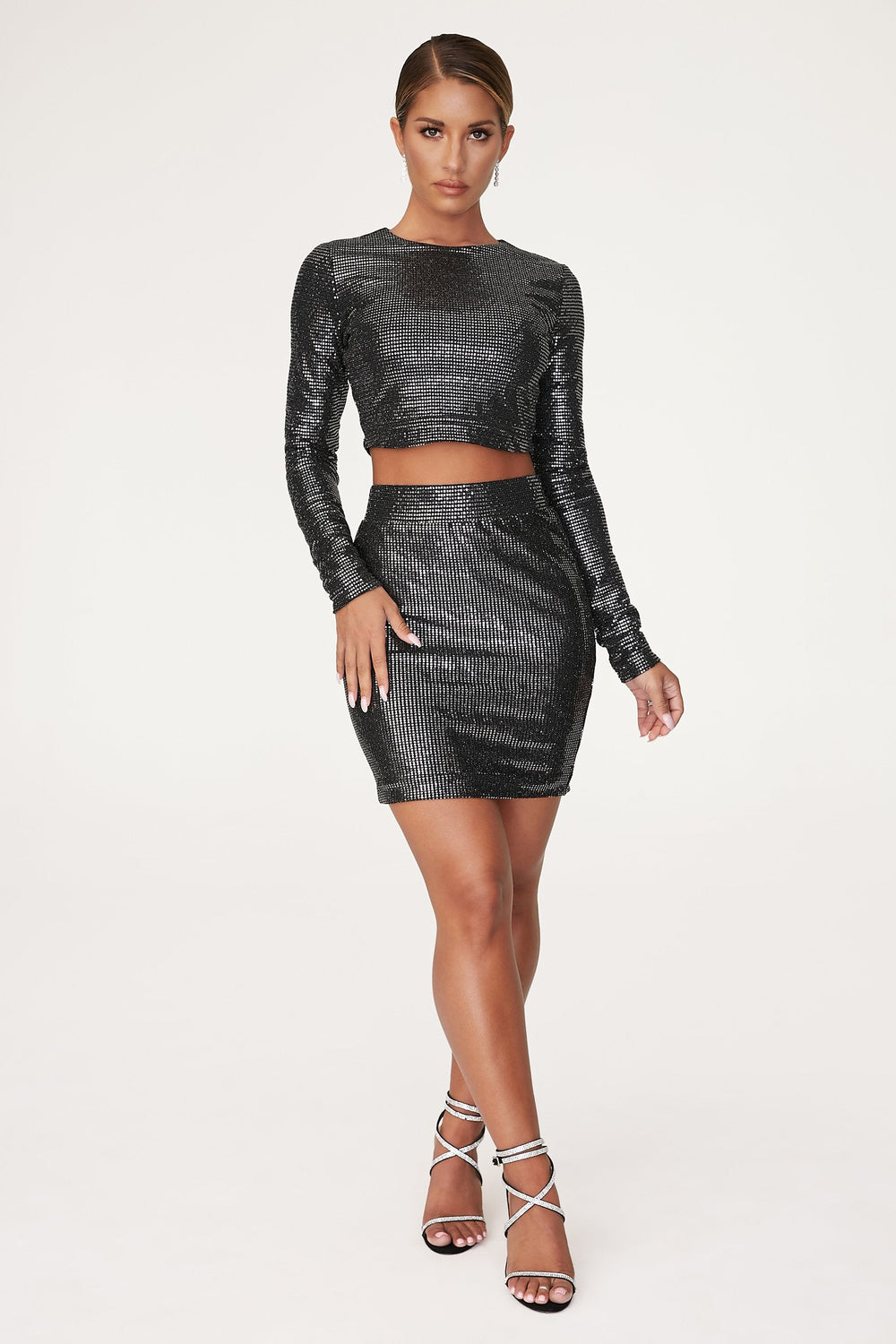 Gwen Mini Skirt - Black - MESHKI ?id=12565687435339
