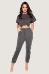 Sylvia Loopback Joggers - Chocolate
