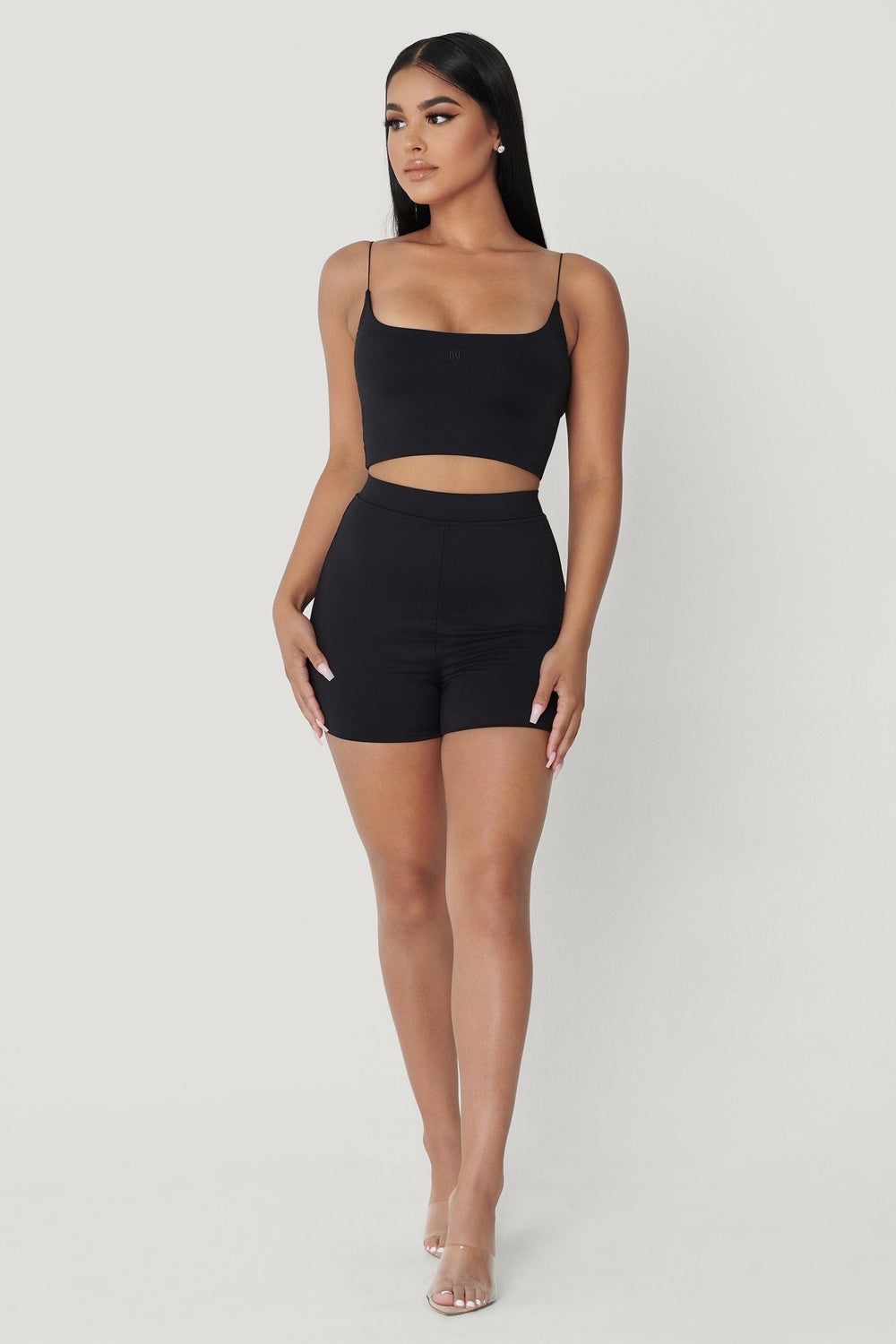 Tiffani Mini Bike Shorts - Black - MESHKI ?id=12232805744715