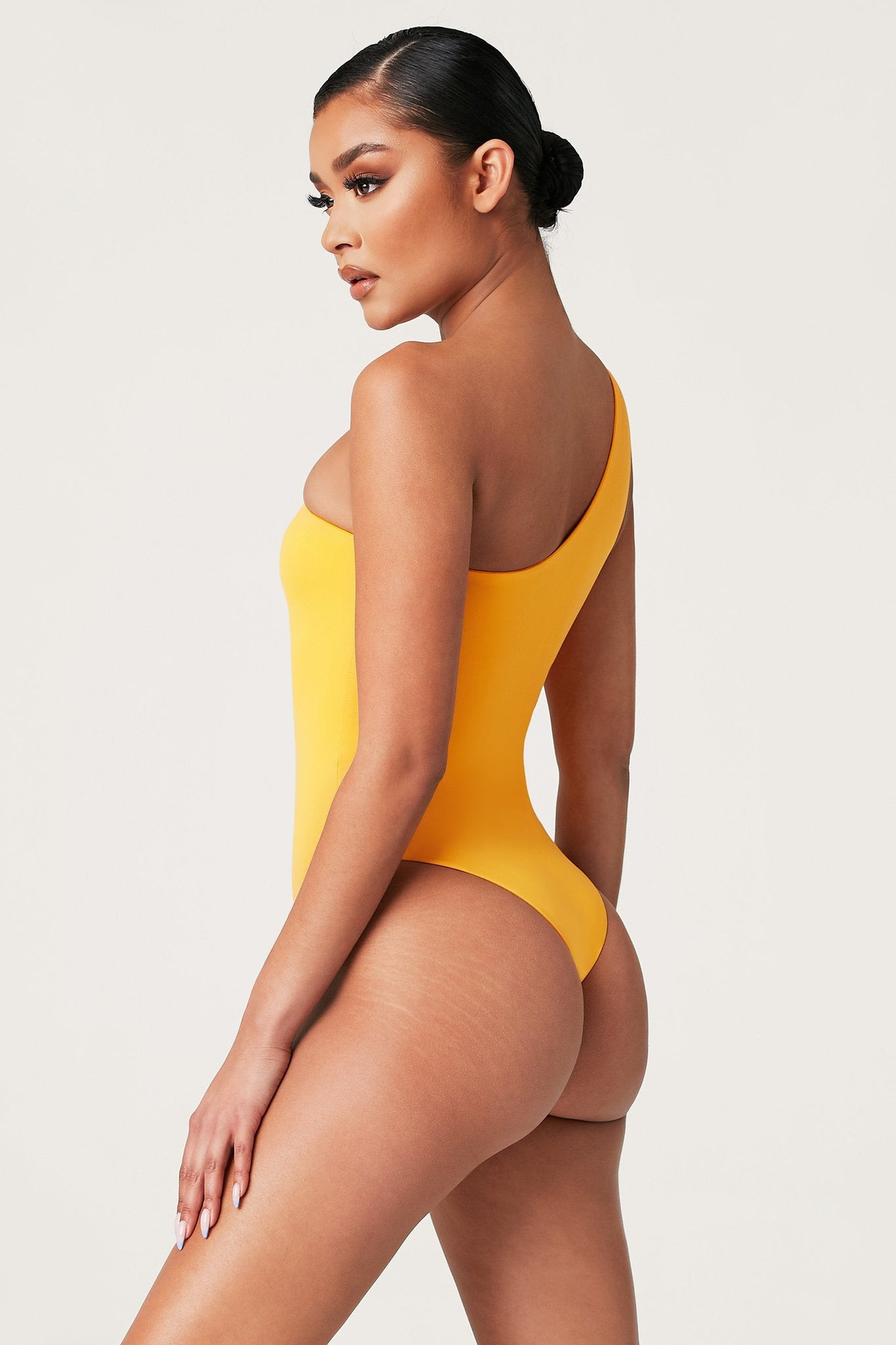 Kadie One Shoulder One Piece - Marigold - MESHKI