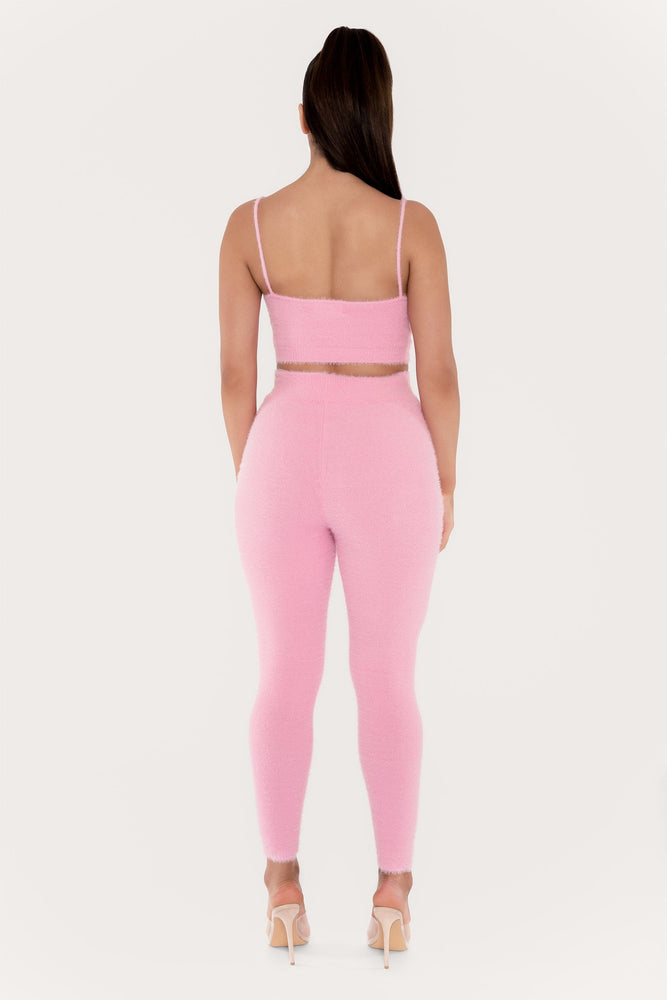 Luna Fluffy Legging - Pink
