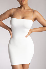 Mia Thin Strap Bodycon Mini Dress - White - MESHKI ?id=15419668627531