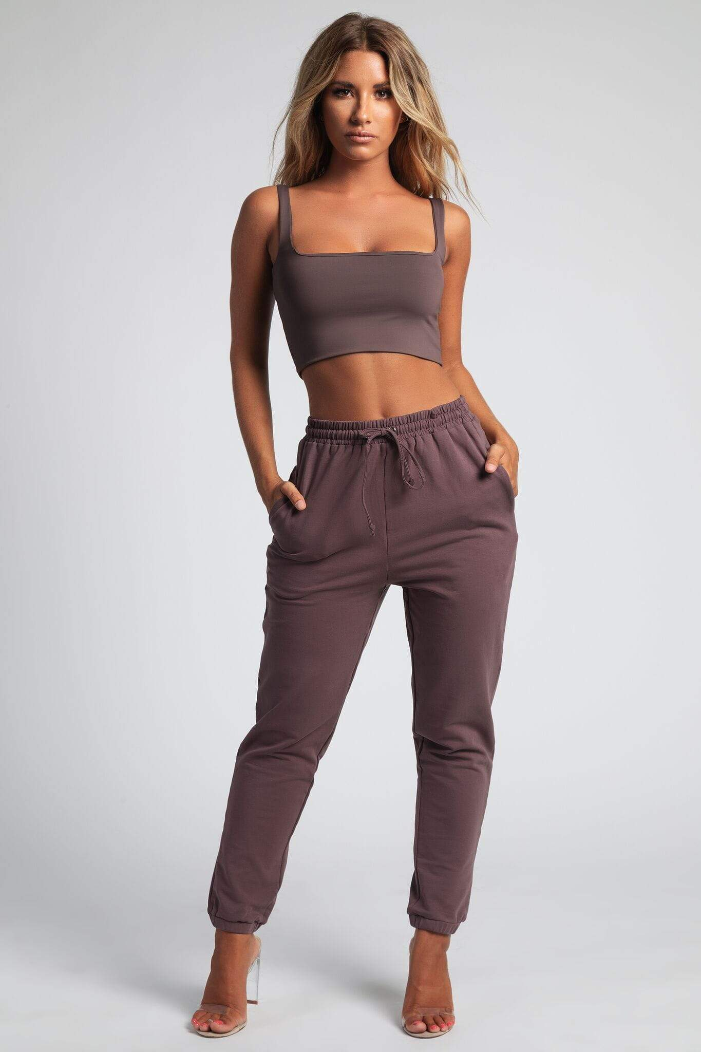 Jazmin Scoop Neck Crop Top - Mauve - MESHKI