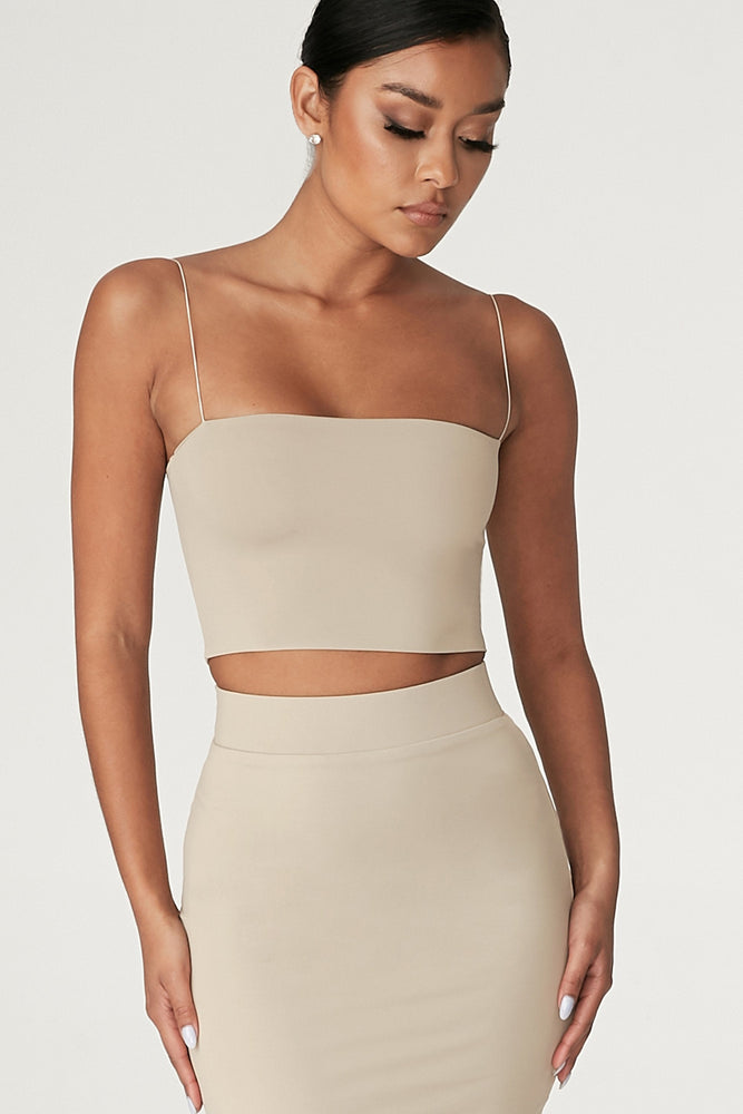 Yvonne Crop Top - Almond - MESHKI ?id=12376569512011