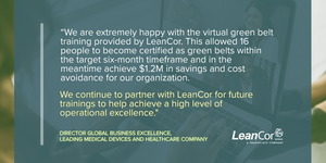 Lean Six Sigma Green Belt for Supply Chain: Virtual Certification Course (Starts Jan 2021)