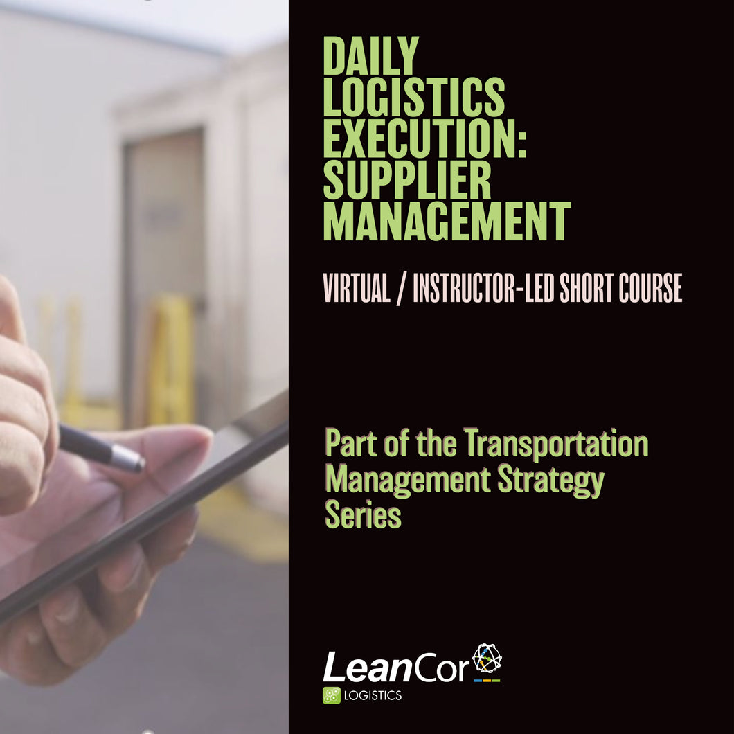 daily-logistics-execution-supplier-management-course