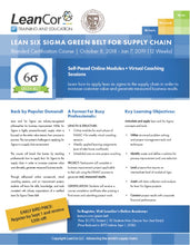 Load image into Gallery viewer, Lean Six Sigma Green Belt for Supply Chain: Blended Certification Course (Starts October 2018)