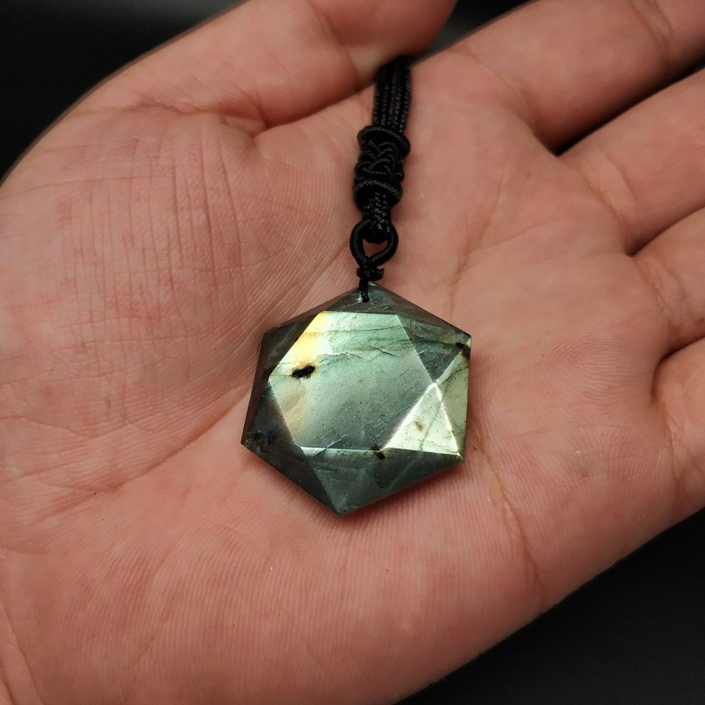 Obsidian Moonstone 6 Point Star