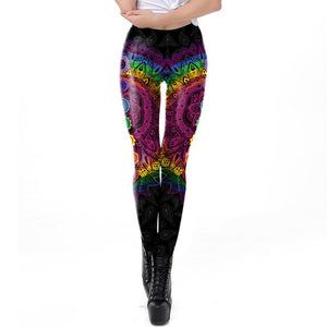 Mandala Workout Seamless Leggings