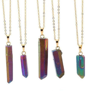 Raw Rainbow Titanium Quartz Pendant