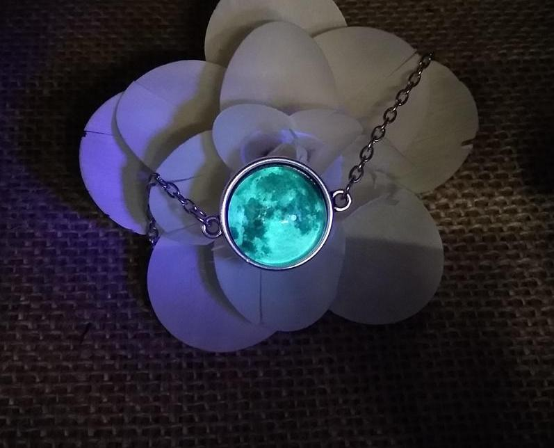 Glow in the Darkness Moon Bracelet