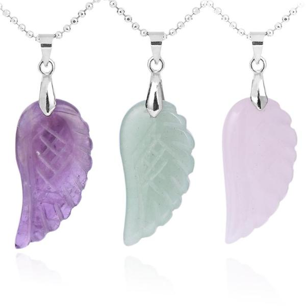 Crystal Angel Wing Necklaces