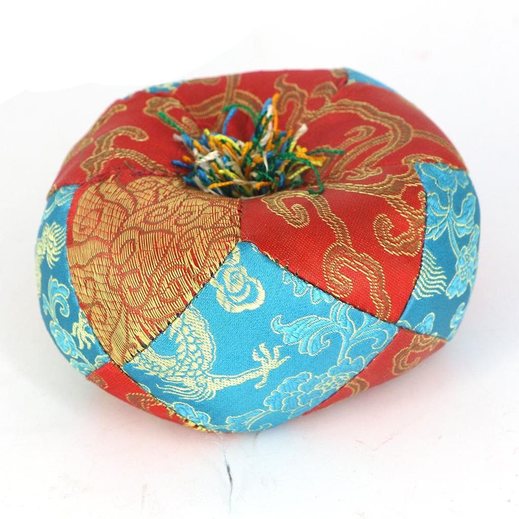 Round Silk Tibetan Singing Bowl Ring Cushion