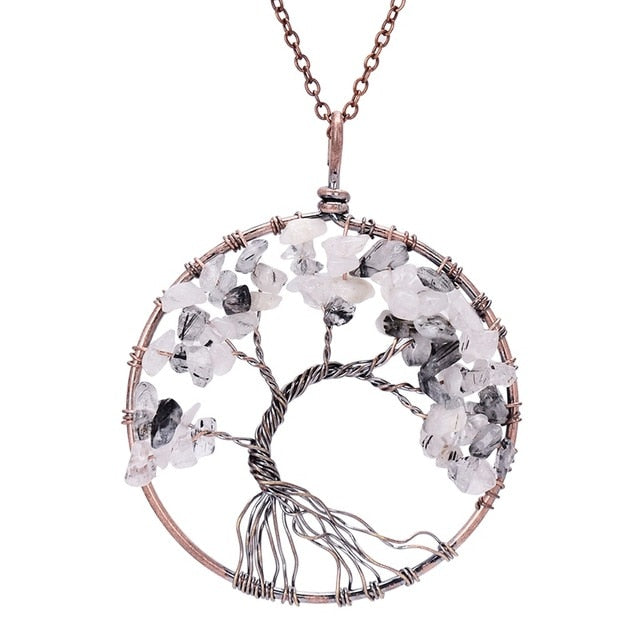 7 Chakra Tree Of Life   Crystal Necklace