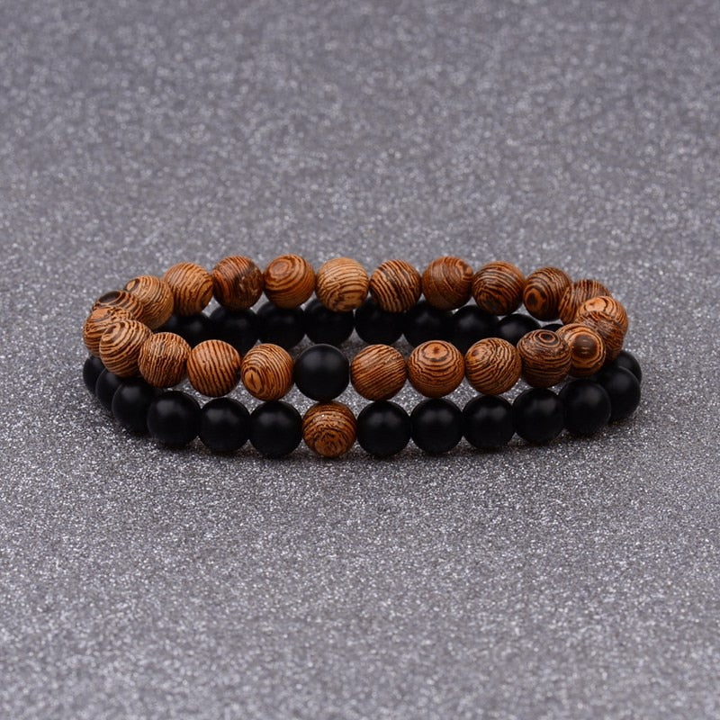 Couples Distance Sandle Wood Bracelet
