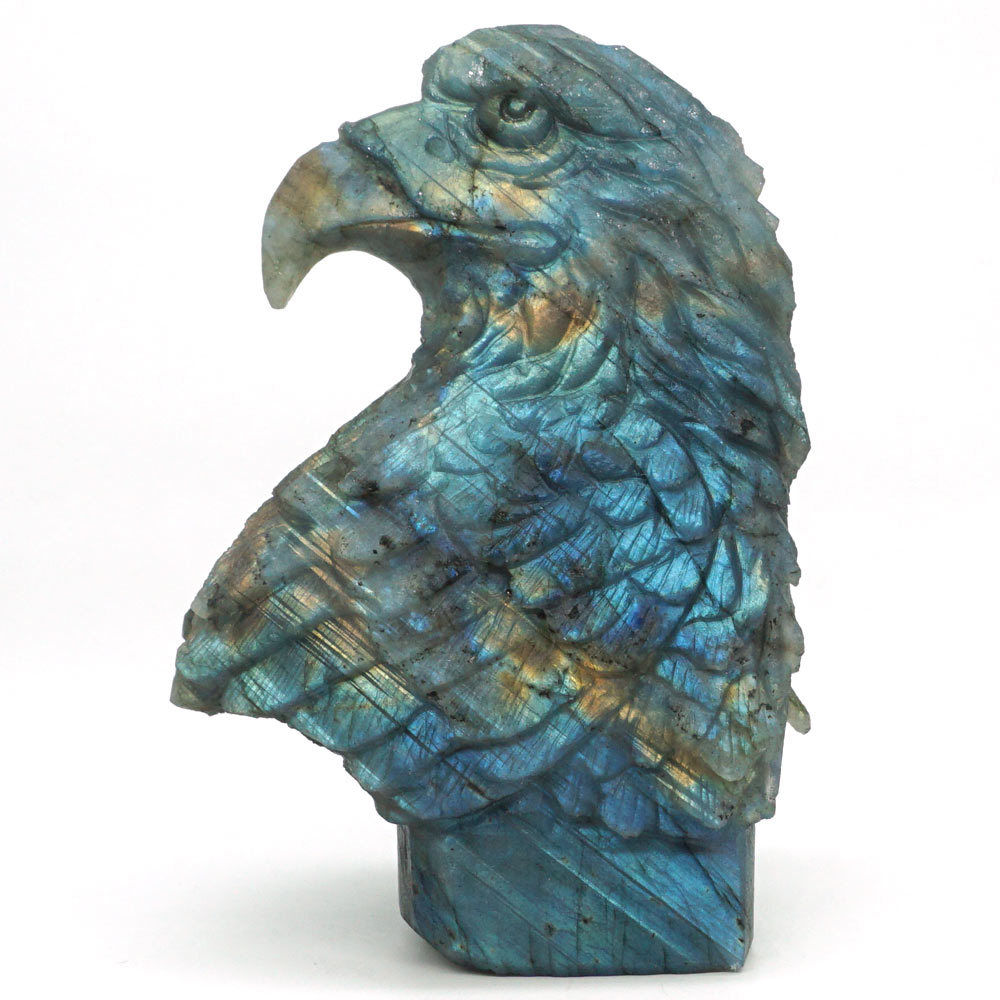 Labradorite Eagle Head Statue