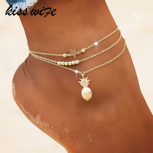 BOHO Pineapple Ankle Chain